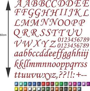 lot xl de lettres de l 39 alphabet et chiffres autocollant. Black Bedroom Furniture Sets. Home Design Ideas