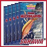 SAHAWA Weiße Mückenlarven, Frostfutter 5X Blister a 100g + 1 Blister Daphnien gratis, verpackt mit Trockeneis -78°C, Aquarium, Aquaristik, Fischfutter, Frostfutter