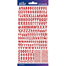 Sticko Alphabet Stickers-Red Marker Small