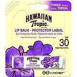 Hawaiian Tropic Lip Balm - Bálsamo Protector Solar de Labios SPF 30, Sabor Tropical, 4 gr