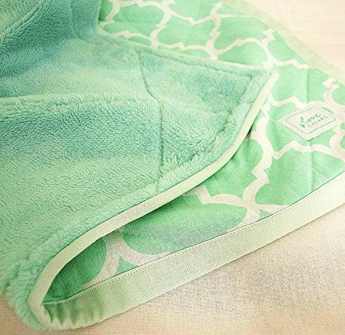 Babydecke, Bettdecke, Grün, Minze, Decke für Kinderwagen, Kuscheldecke Grüne Bettdecken