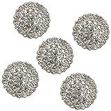 Sharplace 5 Pcs Perle + Strass Bouton Décoratif Bouton à Coudre Vêtement Accs 17mm