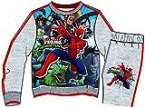 STAMION Jogginganzug/Trainingsanzug mit Spiderman Motiv in Grau, Pullover und Hose, Motiv:Spiderman, Größe:5 Jahre