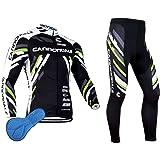 XM Conjunto de ciclismo de manga larga para hombre, con almohadillas de silicona 3D resistente al viento, secado para MTB, ci