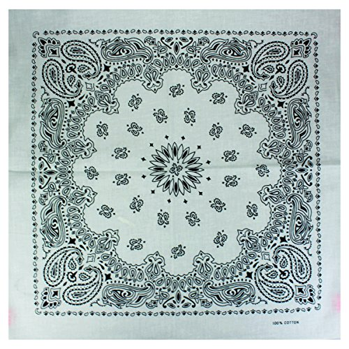 Alex Flittner Designs Bandana mit exclusivem Paisley Muster in weiss Großes Paisley-design