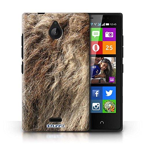 Kobalt® Imprimé Etui / Coque pour Nokia X2 Dual Sim / Vache/Brown conception / Série Motif Fourrure Animale Loup