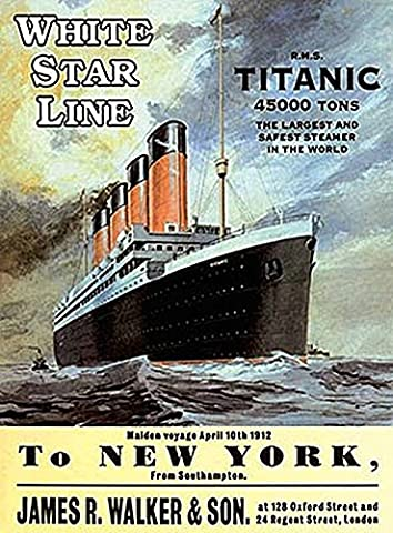 Original Metal Sign Co. Titanic to New York Metal Wall Sign