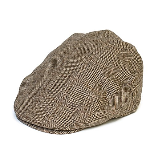 Herren/Damen/Unisex 'Flat Cap' 'Newsboy' Flache Schiebermütze Hüte/Kappe Hut Neu (Hahnentritt-newsboy Hut)