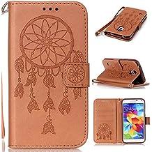 Ultra Slim Funda para Samsung Galaxy S5 mini,Wallet Billetera Flip Carcasa Cover pu Piel con Funcion de Soporte titular Tarjeta