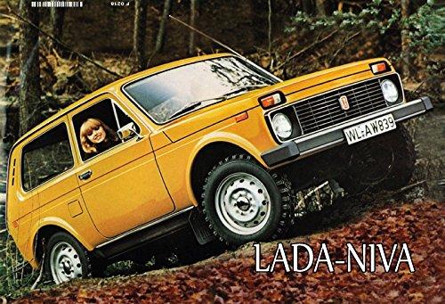 Lada Niva Auto Russisch blechschild (Russische Lustige Geschenke)