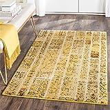 Safavieh Effi gewebter Teppich, MNC216K, Gelb / Mehrfarbig, 121 X 170  cm
