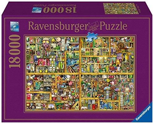 Ravensburger 17825 - Colin Thompson, Magisches Bücherregal Puzzle, 18000 Teile