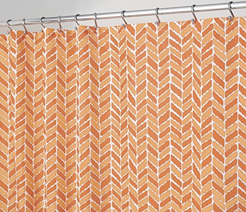 mdesign-arrow-mold-mildew-resistant-fabric-shower-curtain-183cm-x-183cm-burnt-orange-coral