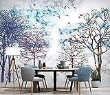 Carta Da Parati Personalizzata 3D Nordic Moda Colorata Boschi Arte Murale Soggiorno Camera Da Letto Wallpaper,180Cm (H) X 260Cm (W)