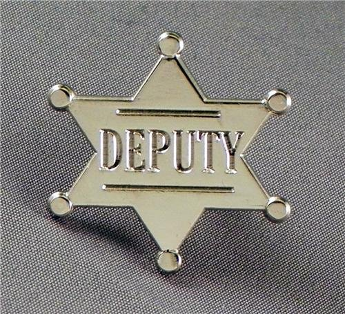 Metal Enamel Pin Badge Deputy Star (Chrome Finish) by Mainly Metal -