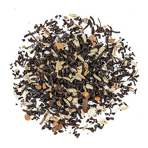 Masala Chai Organic Black Tea - Indian Black Tea Blended with Spices - Loose Leaf Englisch Style Breakfast Tea 200g