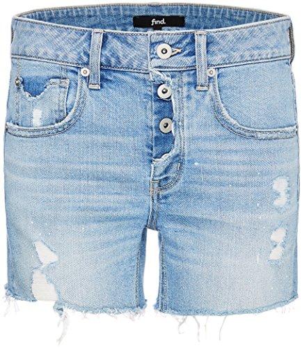 FIND Raw Edge Shorts Donna, Blu (Light Blue), 46 (Taglia Produttore: Large)
