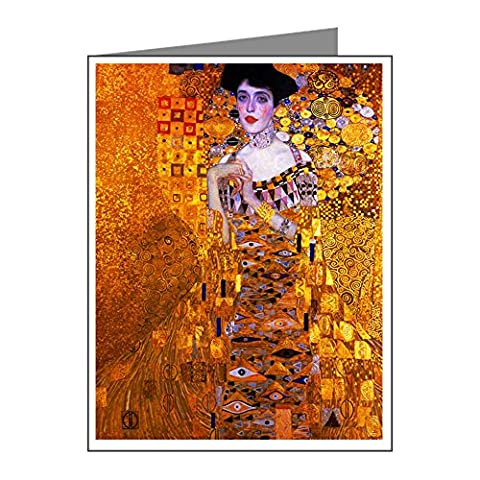 CafePress - Klimt: Adele Bloch-Bauer I. - Blank Note Cards (Pack of 10) Matte