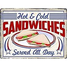 Grindstore Cartel Metálico Anuncio Vintage Sandwiches 40,7x30,5cm
