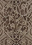 Barock Tapete ATLAS CLA-597-9 Vliestapete geprägt mit grafischem Muster glänzend braun perl-gold braun-grau 5,33 m2