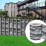 huigou HG® Sichtschutzstreifen Stabmattenzaun Streifen Reflexionsarm Sichtschutzstreifen für doppelstabmatten (65 Meter, Ziegelstein-optik)
