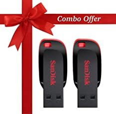SanDisk Cruzer Blade SDCZ50-32G-I35 32GB USB 2.0 Pen Drive Combo Pack of 2