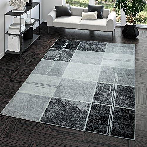 Designerteppich Wohnzimmer Teppich Retro Stil Shabby Chic Grau Creme Preishammer
