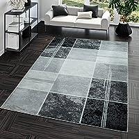 Alfombra Moderna Precio valor cuadros Diseño Salón Alfombra gris negro Top Precio, polipropileno, negro, 160 x 220 cm