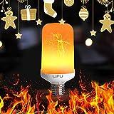 Led Glühbirne, LIFU Flamme Lampe Flackerlicht E27 Flimmer Feuer Birne 1500K Leuchtmittel LED Bulb Kreative Lichter Dekorative Leuchte für Hause, Garten, Bar, Party, Hochzeit,Weihnachten Dekoration