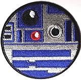 Star Wars R2-D2/Circular Schwarz Bordüre bestickt abzeichen Patch Aufnäher oder zum Aufbügeln 7,5cm
