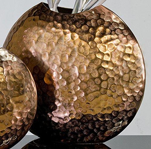 Designer-Vase Push aus Alu kupfer 34 x 39 x 12 cm