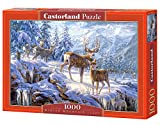 Castorland C-102501-2 - Winter Mountain, 1000-teilig, Klassische Puzzle