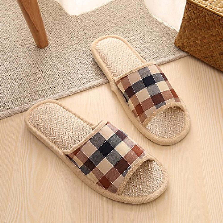 Invierno fankou Stripe Element home par de algodón y zapatillas de algodón ligero ,35, negro