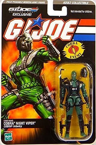 G.I. Joe Cobra Night Viper Cobra Infantry - Collector`s Club Exclusive - Actionfigure 2008 von (Gi Joe Collectors Club)
