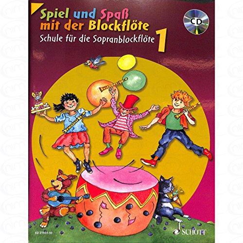 Spiel und Spass mit der Blockfloete 1 - arrangiert für Sopranblockflöte - mit CD [Noten/Sheetmusic] Komponist : ENGEL GERHARD (Spaß Mit Komponisten)