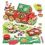 """Baker Ross """"Weihnachtsmann-Zug"""" kreatives Bastelset aus Moosgummi für Kinder – für weihnachtliche Bastelarbeiten und Dekorationen (2 Stück)"""