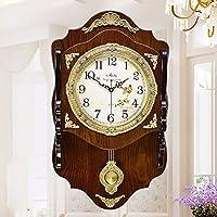 SSBY Europea di solido legno orologio da parete in ottone