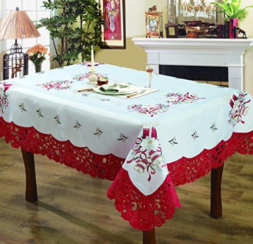 Editex Home Cortina diseño de Vacaciones Mantel, 52por cm, Campanas