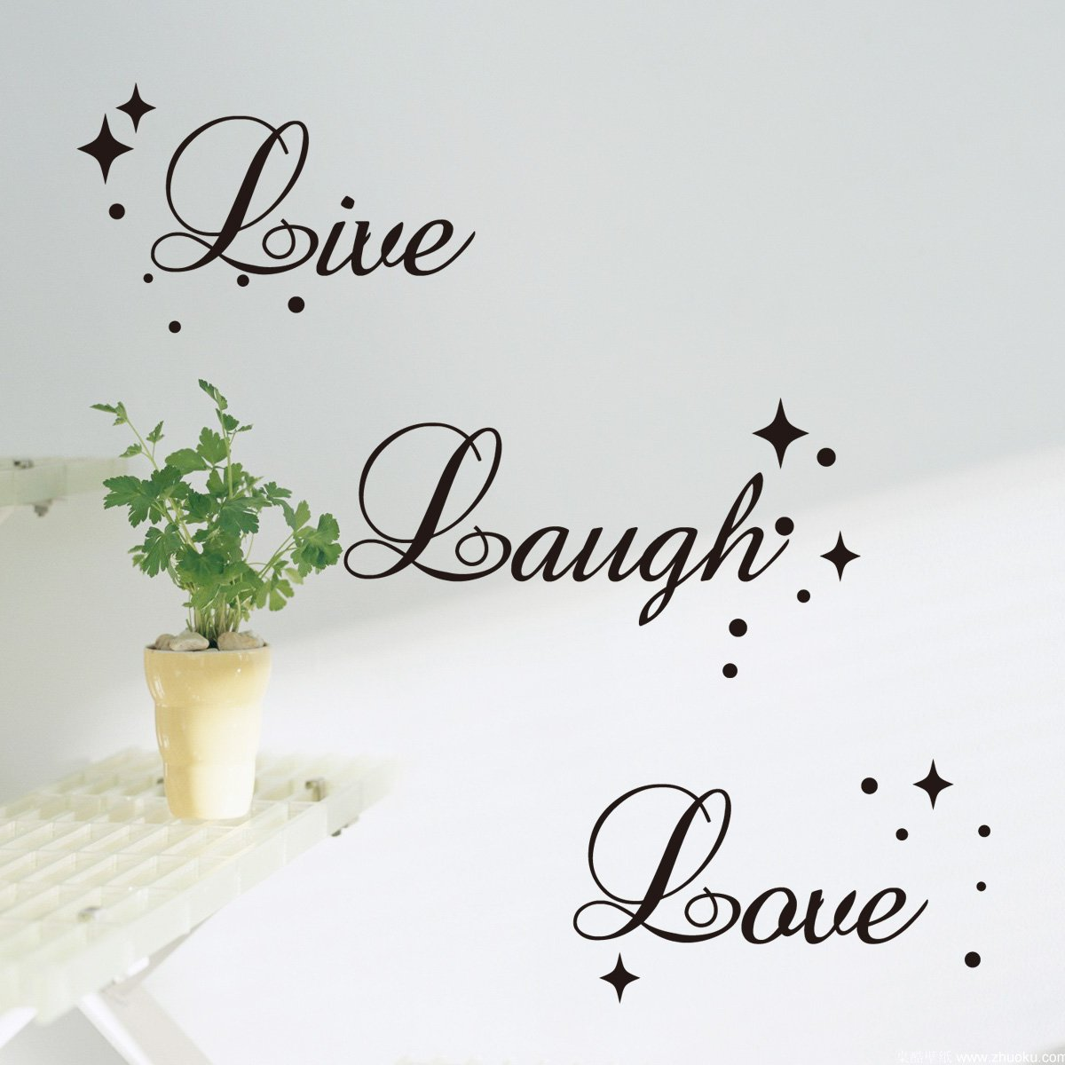Fancy Writing Live Laugh Love Quote Wall Art Vinyl Sticker Decal  Fashionable Decoration (Black,Large Size): Amazon.co.uk: Kitchen U0026 Home