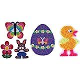 Hama Midi Stiftplatten Set 21 - FRÜHLING Set 2 - Küken,Ei,Häschen,Blume,Schmetterling + 100 Gratis Perlen