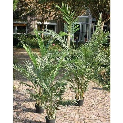 Palma areca artificiale in vaso cementato, 12