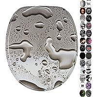 Abattant WC frein de chute soft close - Grande sélection de abattants wc noirs - Finition de haute qualité (Dewdrop)