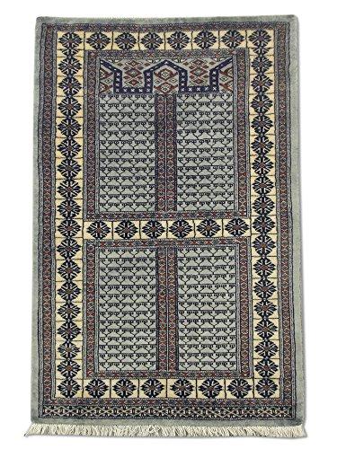 Tradizionale fatto a mano Hatchlu tappeto, lana, grigio chiaro, 80x 121cm, 2'17,8cm x 4' (ft)