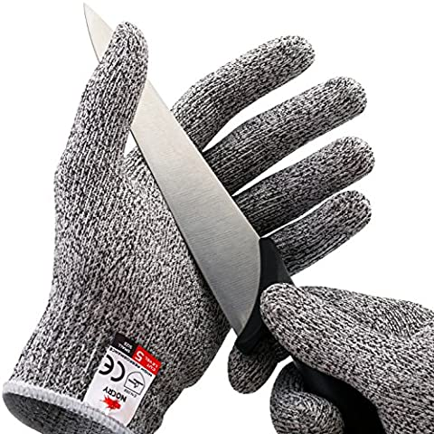 NoCry Cut Resistant Gloves - High Performance Level 5 Protection, Food Grade. Size Medium, Free Ebook