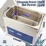 Cusco Digital Limpiador Ultrasónico Dispositivo de Limpieza por Ultrasonidos (3L)