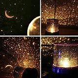 DEALCROX Plastic Projector Night Lamp (Black)