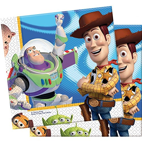 Pack 20 Servilletas Papel 33x33 cm Toy Story Action