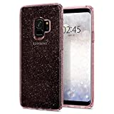 Spigen Coque Samsung Galaxy S9, [Liquid Crystal Glitter] TRANSPARENTE SOUPLE SILICONE PAILLETTE [Rose Quartz] Coque Housse Etui pour Samsung Galaxy S9 - (592CS22832)