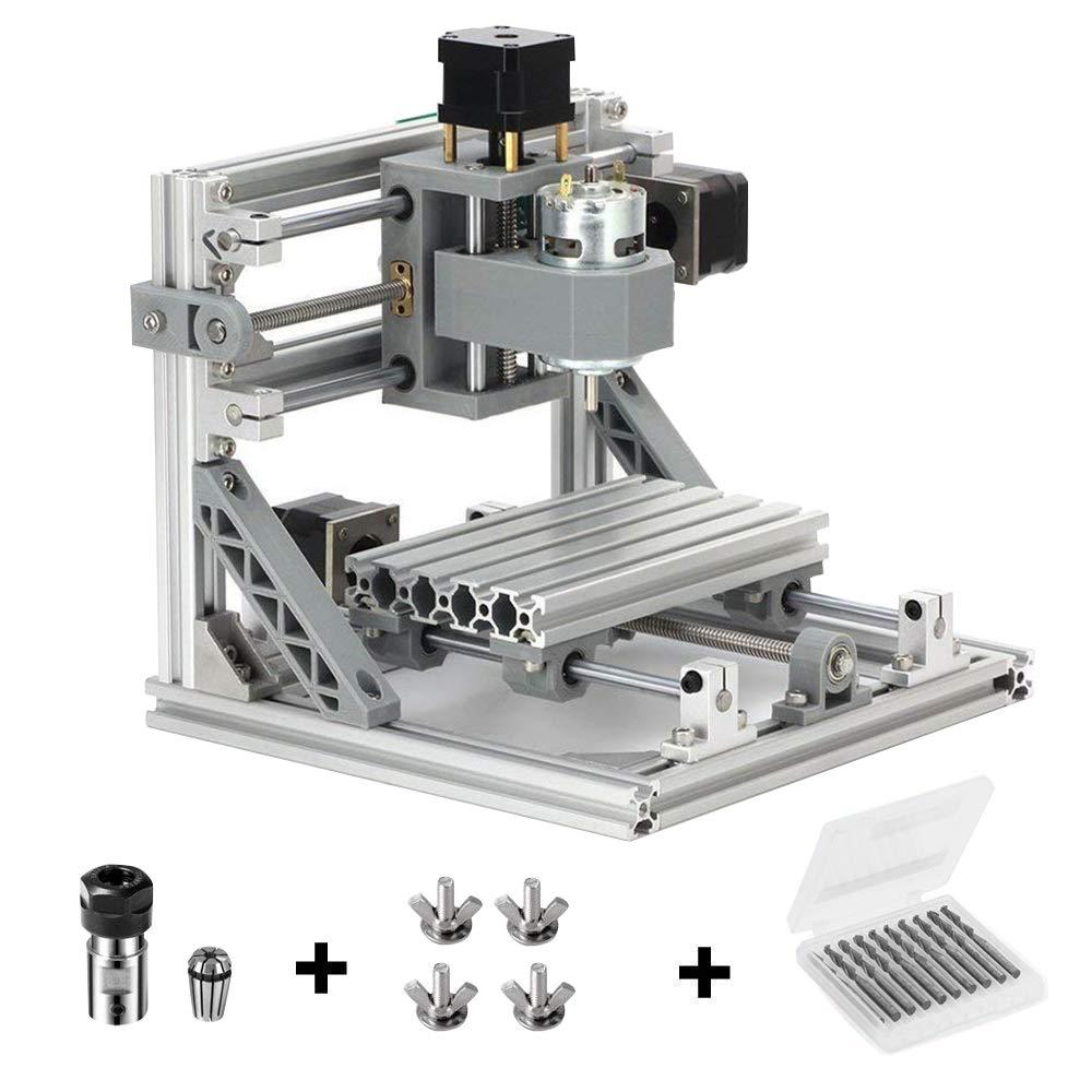 Mcwdoit DIY CNC Router Kits 1610 GRBL Steuerung Holzschnitzerei Fräsen Graviermaschine (Arbeitsbereich 16x10x4,5 cm, 3…