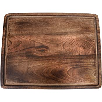 The Indus Valley Mango Wood Chopping Board for Kitchen [ X-Large | 18 Inch | Rectangle Cutting Board ] Suitable for Fruits, Vegetables, Meat, Fish & Cheese